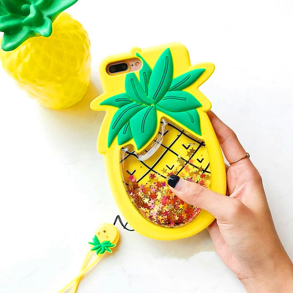 Liquid Pineapple And Strawberry Phone Case for iphone 6/6s/6plus/7/7plus/8/8P/X PN0077