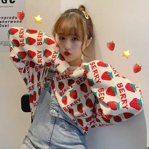 Cute Strawberry Sweater PN3433