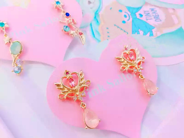 Pink Crown Jewel Earring PN0430