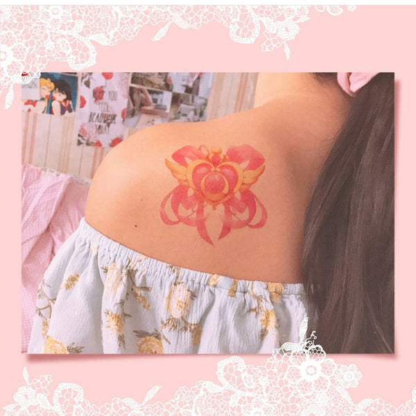 Sailor Moon And Magicwand Tattoo Paste PN0467