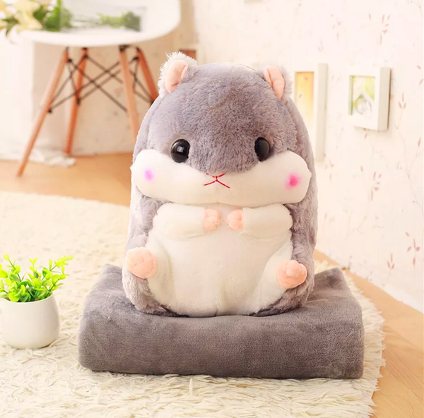Cute Hamster Pillow And Blanket PN0533