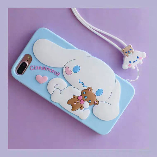 Cute Cinnamoroll Phone Case for iphone 6/6s/6plus/7/7plus/8/8P/X/XS/XR/XS Max/11/11pro/11pro max PN1068