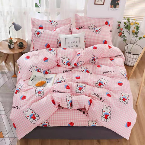 Cute Rabbit Bed sheet,Quiltcover,Pillowcover PN2298