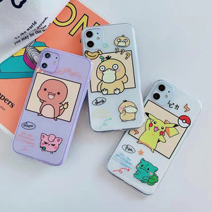 Cute Pikachu Phone Case for iphone 7/7plus/8/8P/X/XS/XR/XS Max/11/11pro/11pro max PN2309