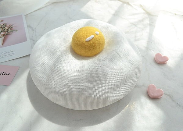New Cute Poached Egg Beret PN2336