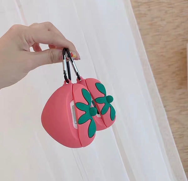 Cute Strawberry Airpods Case For Iphone PN2307