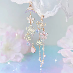 Cute Sakura Earrings/Clips  PN3436
