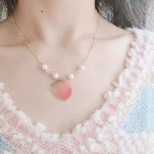 Kawaii Peach Necklace PN3437