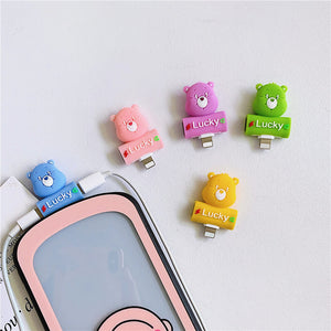 Cute Bear Earphone Wire Adapter For Iphone PN2003
