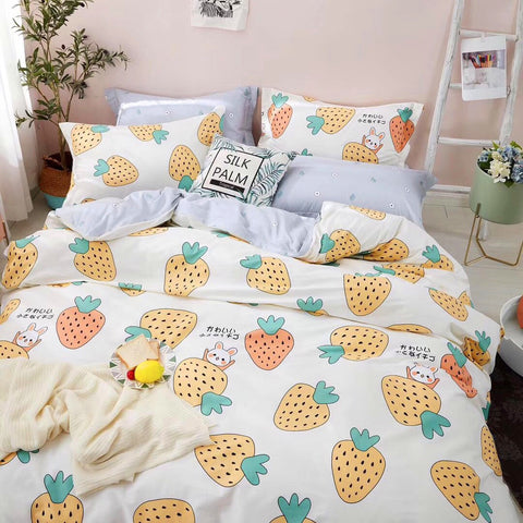Fashion Strawberry Bed sheet,Quiltcover,Pillowcover PN2321