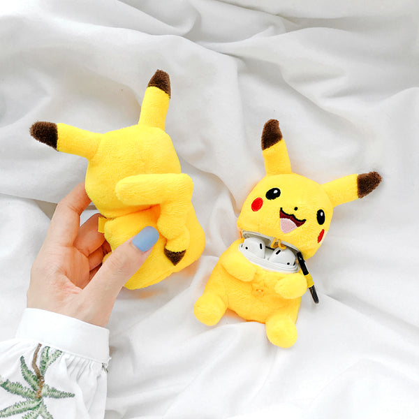Plush Pikachu Airpods Case For Iphone PN1761