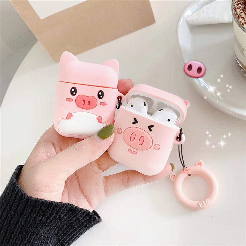 Lovely Pink Pigs Airpods Case For Iphone PN1153