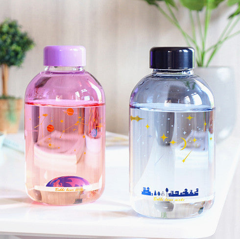 New Style Blue Sky Glass Water Bottle PN1746