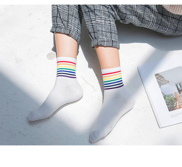 Fashion Colorful Rainbow Socks PN0536