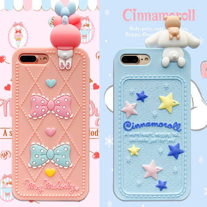 Mymelody And Cinnamoroll Phone Case for iphone 6/6s/6plus/7/7plus/8/8P/X/XS/XR/XS Max/11/11pro/11pro max/12/12pro/12mini/12pro max PN0620