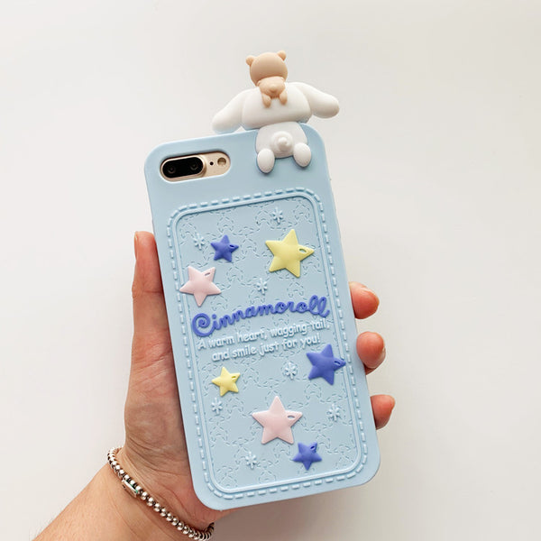 Mymelody And Cinnamoroll Phone Case for iphone 6/6s/6plus/7/7plus/8/8P/X/XS/XR/XS Max/11/11pro/11pro max PN0620