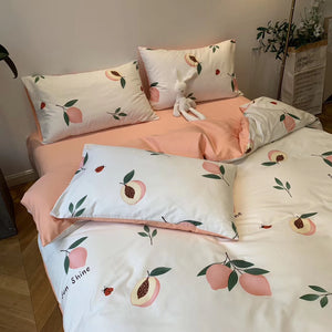 Fashion Peach Bedding Set PN2549