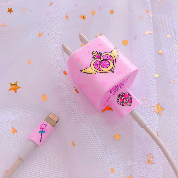 Sailormoon And Cartoon Charger Stickers For Iphone PN0895