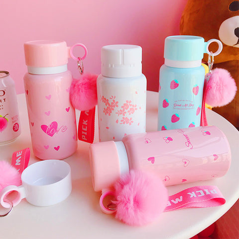 Kawaii Strawberry And Sakura Vacuum Cups PN0550
