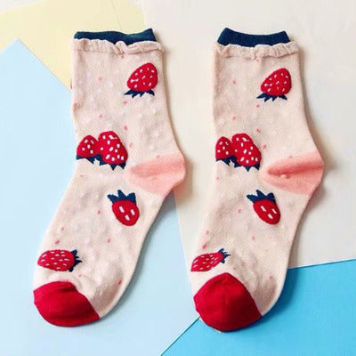 Cute Strawberry and Orange Socks PN1140
