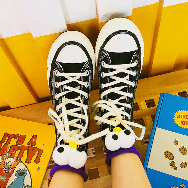 Harajuku Cartoon Eyes Socks PN0537