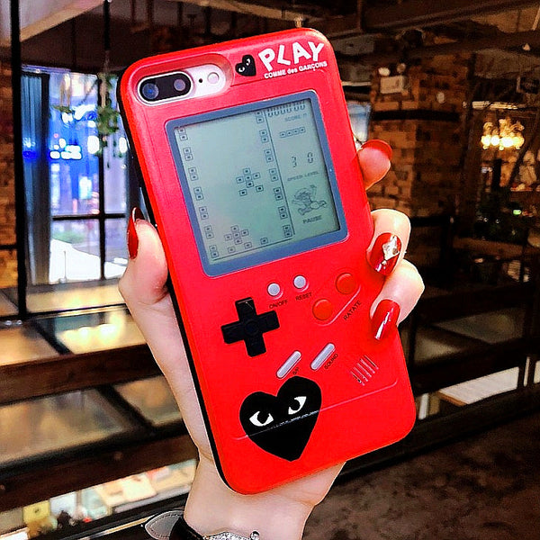 The Tetris Red And Black Gameconsole Phone Case for iphone 6/6s/6plus/7/7plus/8/8P/X/XS PN0822