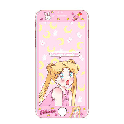 Kawaii Sailormoon Phone Tempered Film for iphone 6/6s/6plus/7/7plus/8/8plus PN0450