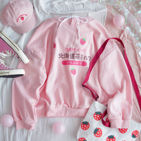 Fashion Strawberry Hoodie PN2118