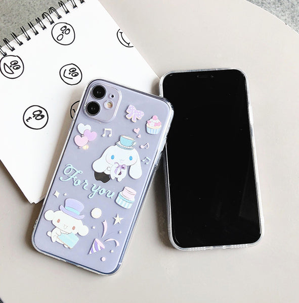 Cute Cinnamoroll Phone Case for iphone 7/7plus/8/8P/X/XS/XR/XS Max/11/11pro/11pro max PN2529