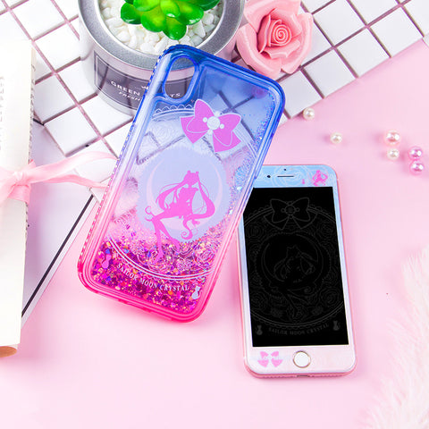 Sailormoon Usagi Liquid Phone Case for iphone 6/6s/6plus/7/7plus/8/8plus/X/XS/XS Max PN0653