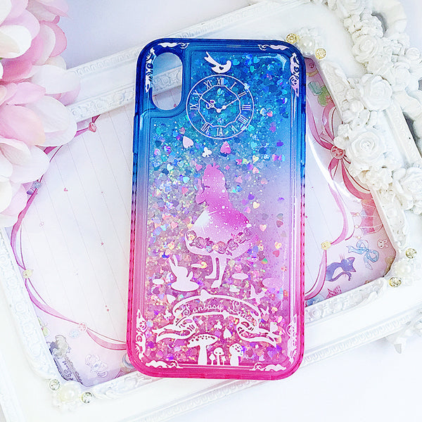 Alice in Wonderland Liquid Phone Case for iphone 7/7plus/8/8plus/X/XS/XS Max PN1188