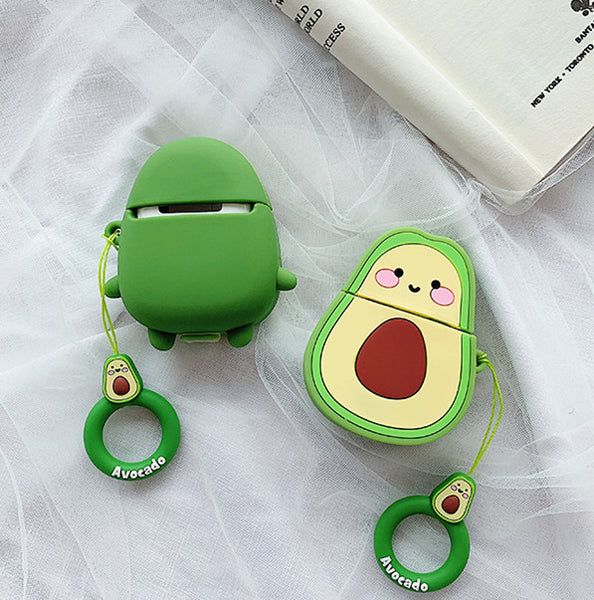 Smile Avocado Airpods Case For Iphone PN1591