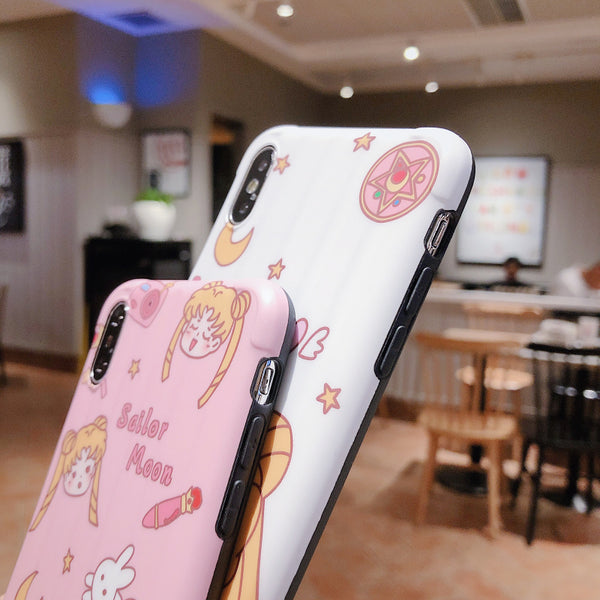 Cute Sailormoon Phone Case for iphone 6/6s/6plus/7/7plus/8/8P/X/XS/XR/XS Max PN2203
