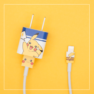 Cartoon Pikachu Charger Stickers For Iphone PN2325