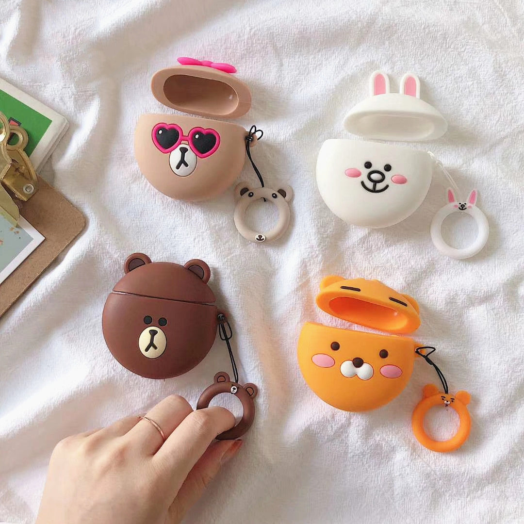 Lovely Brown and Cony Airpods Case For Iphone PN1707