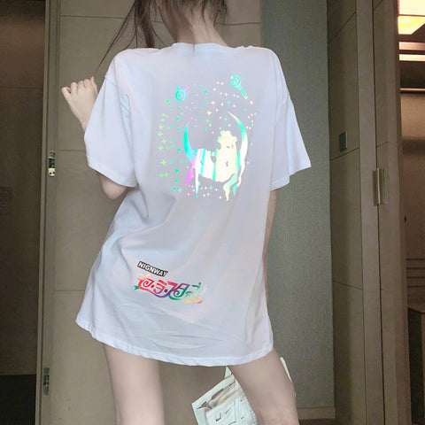 Kawaii Reflective Sailormoon T-shirt PN2832
