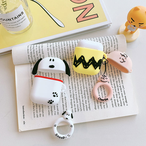 Snoopy and Charlie Airpods Case For Iphone PN1410