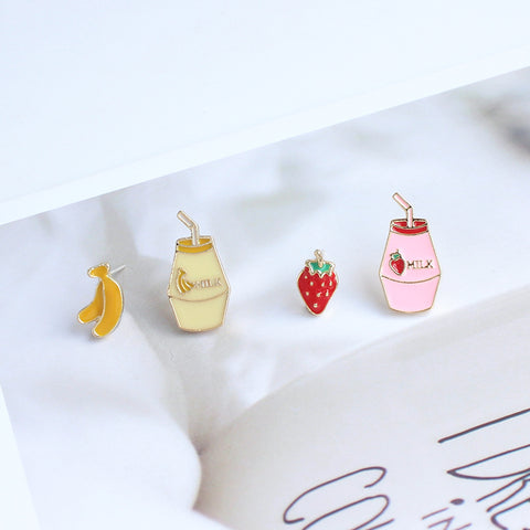 Strawberry Milk Earrings/Clips PN2479