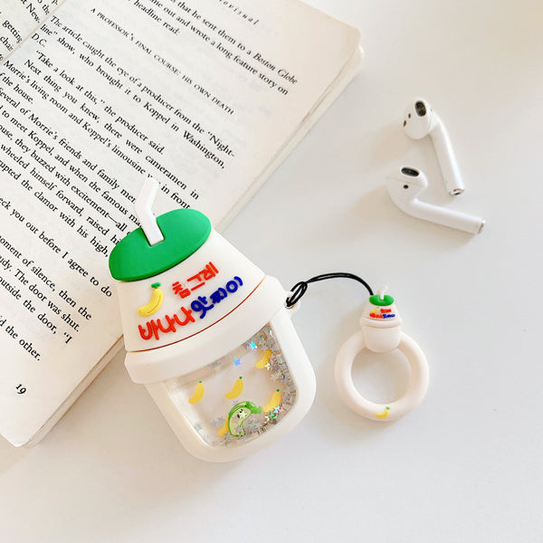 Quicksand Bubble Tea Bottle Airpods Case For Iphone PN1776