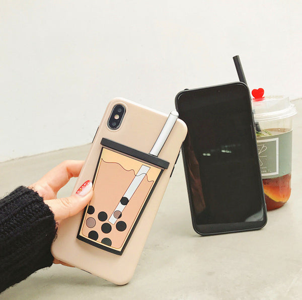 Bubble Tea Phone Case for iphone 6/6s/6plus/7/7plus/8/8P/X/XS/XR/XS Max PN1292