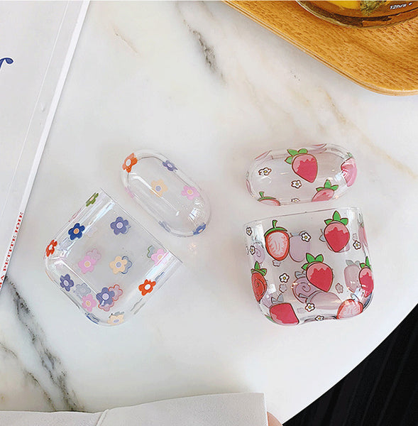 Strawberry Flowers Airpods Case For Iphone PN1458