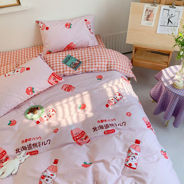 Strawberry Milk Bedding Set PN2785