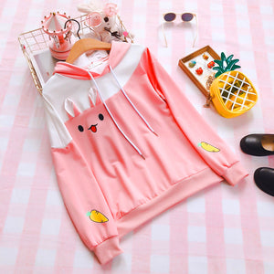 Kawaii Ear And Carrots Hoodie PN0937