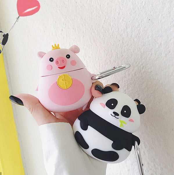 Cute Pig and Panda Airpods Case For Iphone PN1988