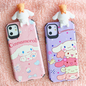 Lovely Cinnamoroll Phone Case for iphone 7/7plus/8/8P/X/XS/XR/XS Max/11/11pro/11pro max PN2244