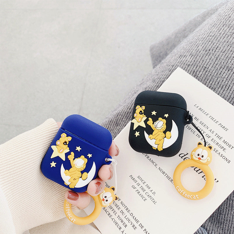 Lovely Coffee Cat Airpods Case For Iphone PN2073