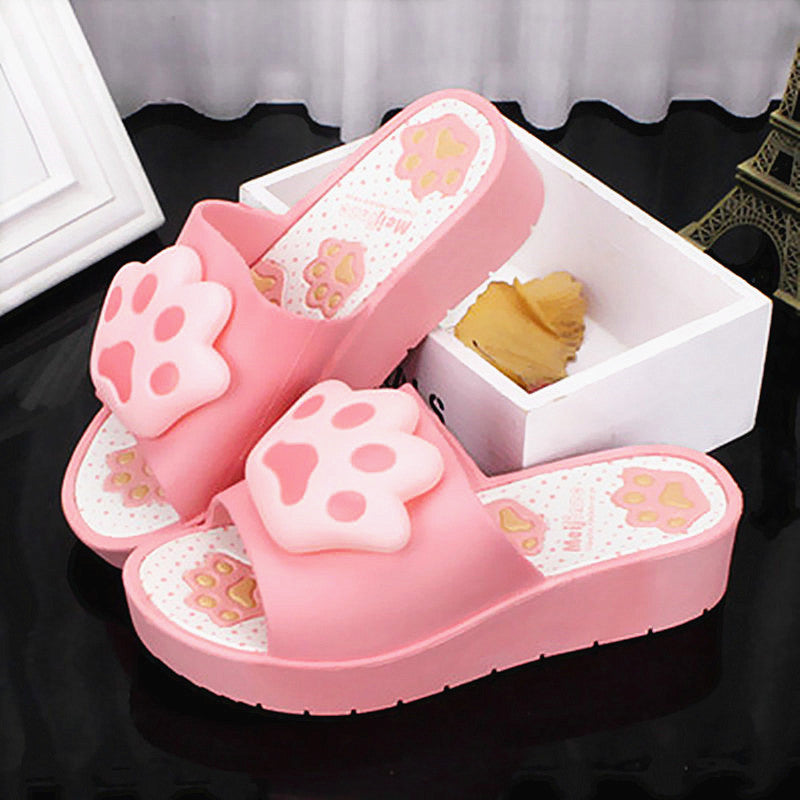 Kawaii Cats Paws High-heeled Cool Slippers PN1370