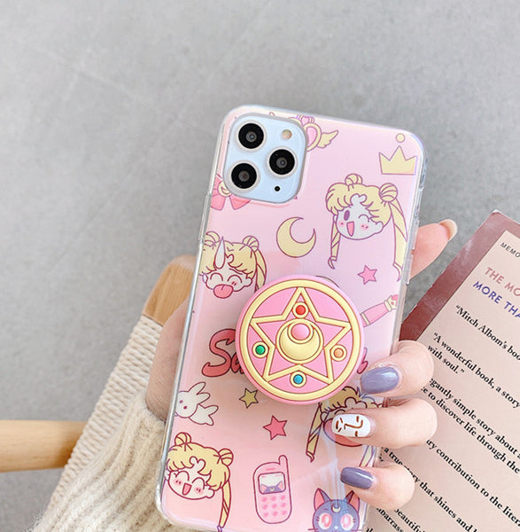 Cartoon Sailormoon Phone Case for iphone 7/7plus/8/8P/X/XS/XR/XS Max/11/11pro/11pro max PN2215
