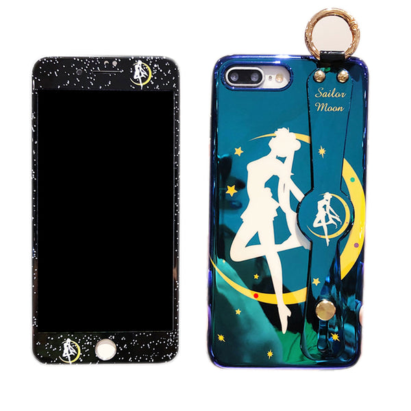 Sailormoon Wrist Strap Bracket Phone Case for iphone 6/6s/6plus/7/7plus/8/8P/X/XS/XR/XS Max PN1793