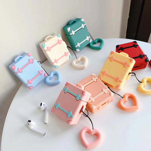 Vintage Suitacase Bottle Airpods Case For Iphone PN1164